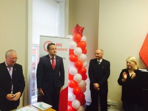 Leo Varadkar TD, Minister for Health launching HIV Ireland today, World AIDS Day, in HIV Ireland. Pictured from left to right Stephen Rourke, Chair of HIV Ireland, Leo Varadkar TD, Minister for Health, Niall Mulligan, Executive Director of HIV Ireland and Erin Nugent Community Support Manager, HIV Ireland